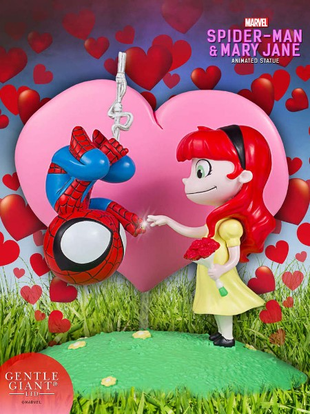 Gentle Giant Marvel Animated Spider-Man & Mary Jane Statue